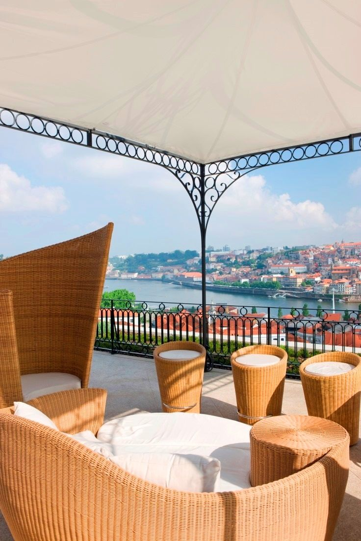 The #Yeatman #Hotel - perfect place to enjoy sunny days with idyllic panoramic views over #Unesco World Heritage city of #Porto and the river #Douro, #Portugal -  #Europe #Vacations