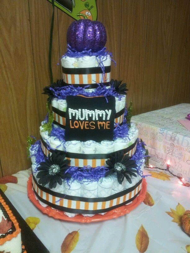 Halloween/fall diaper cake :)
