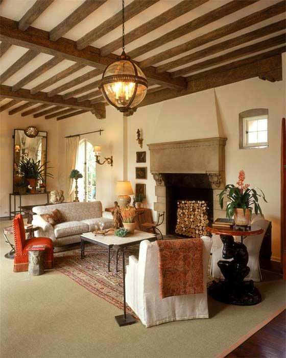 White Webb Interiors The Sitting Area In The 2003 Pasadena Showcase House Living Room Has