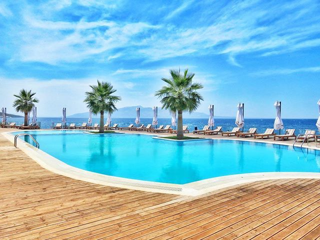 Pool or sea?  Santa Quaranta Premium Resort- Saranda, Albania  Saranda is…