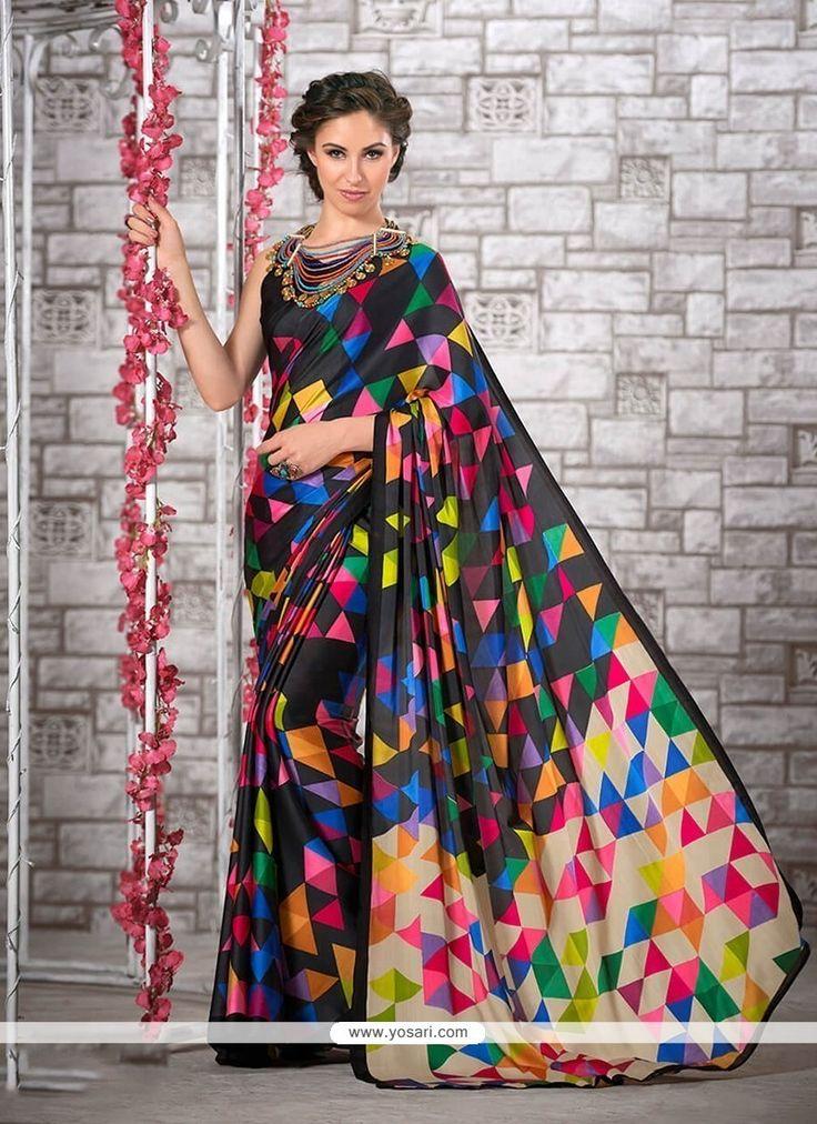 Sightly Print Work Multi Colour Printed Saree Model: YOSAR7532