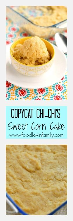 Copycat Chi-Chi's Sweet Corn Cake tastes just like the restaurants. Perfect side dish for fiesta night, taco tuesday, or Cinco De Mayo. | http://www.foodlovinfamily.com/copycat-chi-chis-sweet-corn-cake/