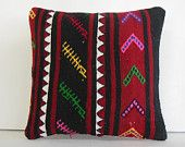 traditional pillow woven accent pillow kilim accent pillow midcentury accent pillow tribal kilim cushion cover eclectic kilim cushion cover