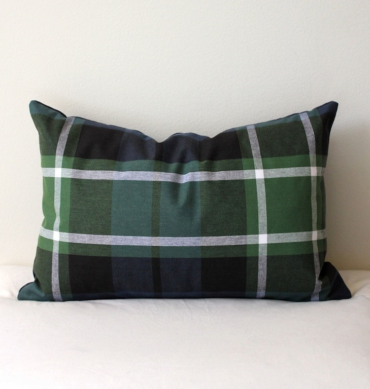 Plaid Tartan pillow -- $36.00, via Etsy.