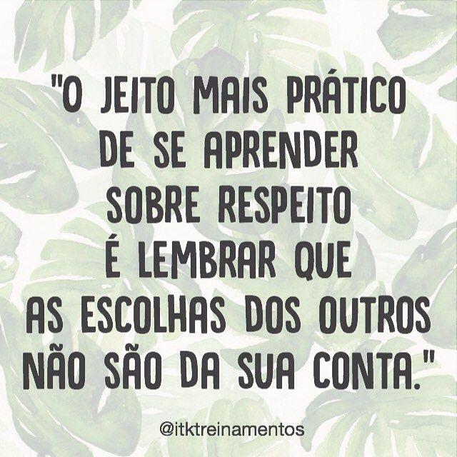 """1,512 curtidas, 11 comentários - ByNina (Carolina Carvalho) (@instabynina) no Instagram: """"Foque nas suas escolhas. #regram @itktreinamentos  #frases #respeito #escolhas #pessoas…"""""""
