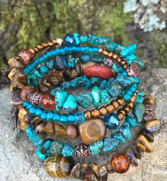 Live in the Sunshine: five wrap beaded memory by DFInspirations