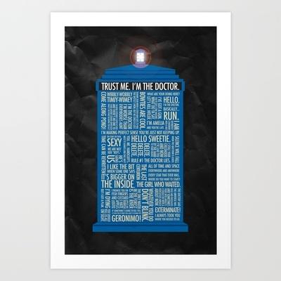 Doctor Who  Art Print by Luke Eckstein - $15.00