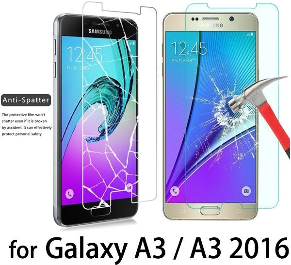 NEW! 9h 0.26MM Anti-Explosion 2.5D Screen Protector Tempered Glass films For Samsung Galaxy A3 A5 A7 J3 J5 J7 2015 2016