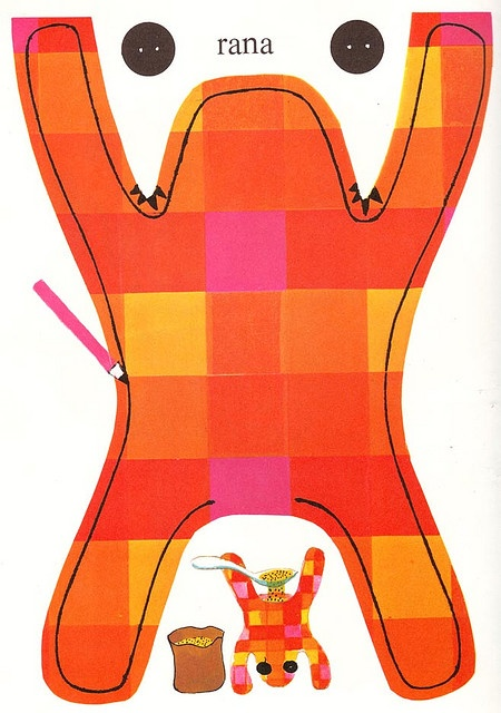 """Illustration from """"1Clan e 1000 idee"""", an old handbook for little girls (the italian edition of a french book), 1973. I love this pic, thanks! Check out these AWESOME ARTS AND CRAFT IDEAS FOR KIDS. http://www.tpt-fonts4teachers.blogspot.com/2013/02/awesome-arts-and-crafts-ideas-for-kids.html"""
