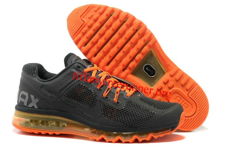 Mens Nike Air Max 2013 Black Orange Shoes