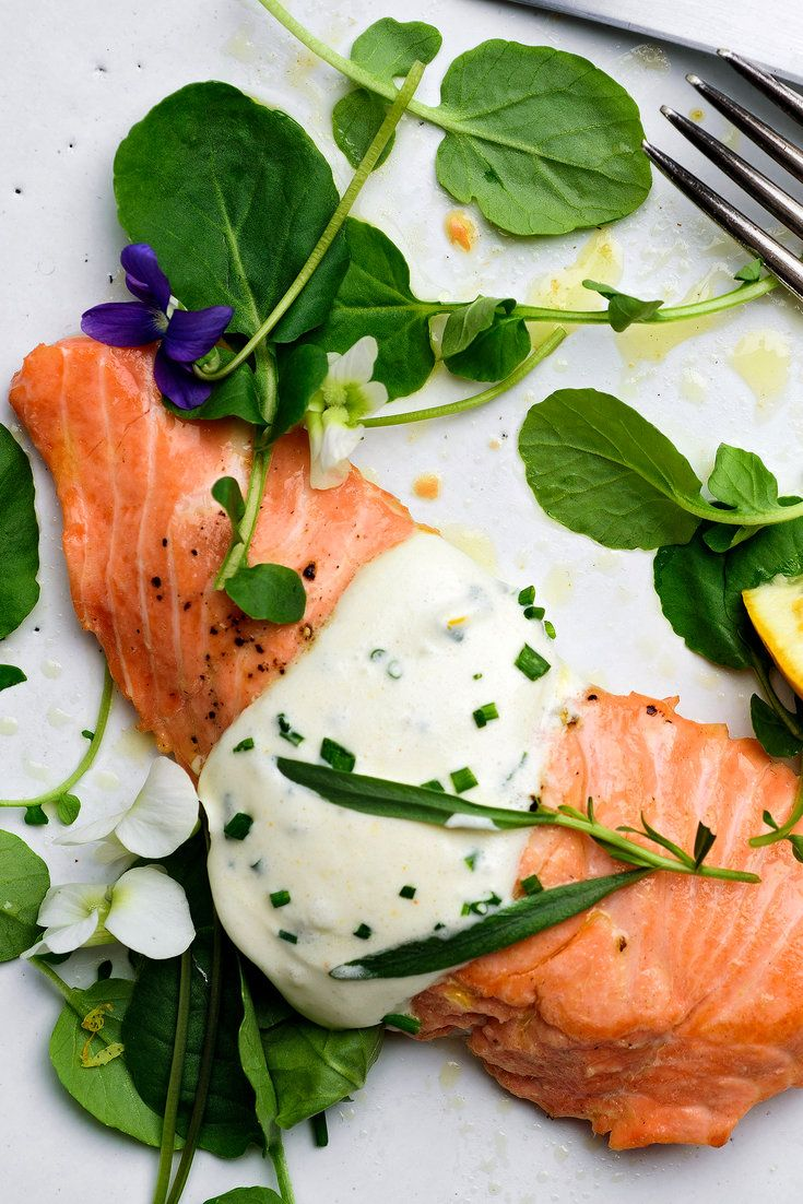 Wild King Salmon With Savory Whipped Cream Recipe - NYT Cooking