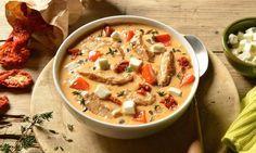 Gyrossuppe                              -                                  Eine leckere Gemüsesuppe mit Käse und Schweinefleisch für jede Party geeignet