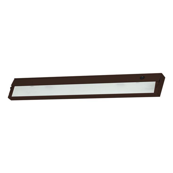 Alico Zeeline 4 Lamp Xenon Cabinet Light In Bronze With Diffused Glass