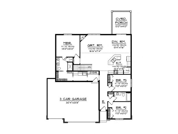 9 best house plans with potential images on pinterest for Kitchen design 14x14