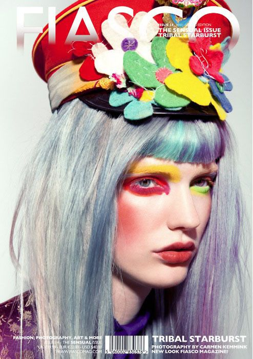 Pink and Blue Pastel hair – Tribal Starburst Editorial