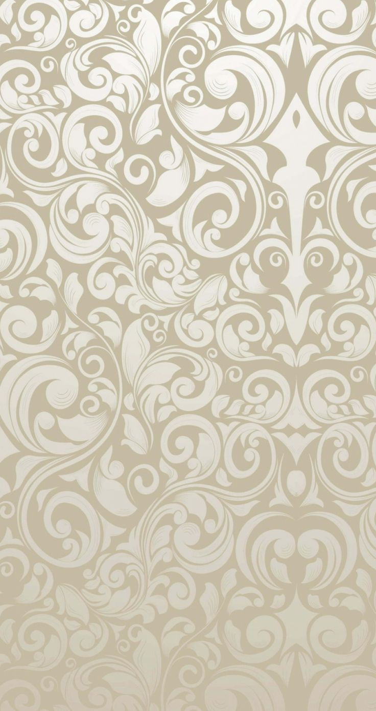 Tap image for more iPhone pattern background! Light gold swirl floral Pattern - @mobile9   Wallpapers for iPhone 5/5s/5c, iPhone 6 & 6 plus
