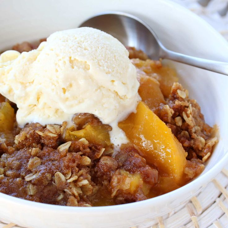 Perfect Peach Crisp (Slow Cooker or Oven)