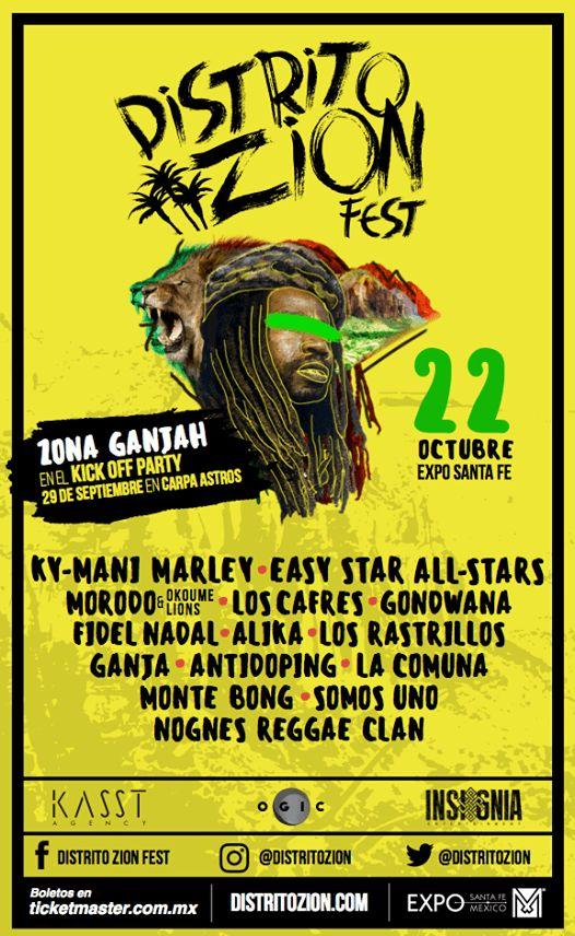 El mejor festival de música reggae de México incluirá a leyendas como Ky-Mani Marley; hijo de Bob Marley.