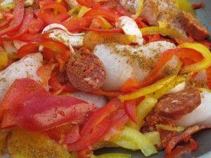 Plancha de poisson /joues de lotte et chorizo @annehelene.fr