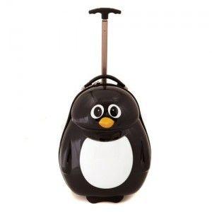 Valise à roulette enfant Pingouin de Cuties and Pals pour les 3/8 ans. Sur notre boutique: 63.50€