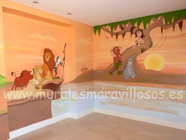 Cuartos de bebes recien nacidos murales infantiles - Murales para ninas ...