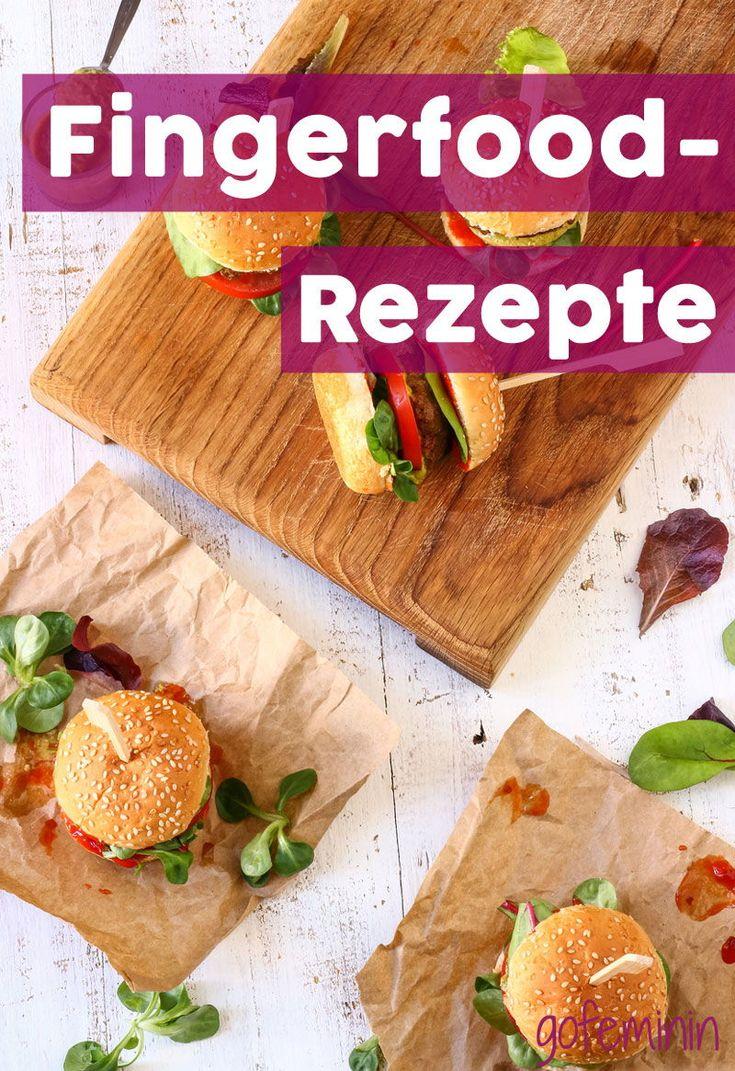Von Mini-Burger bis Lachs-Sandwich: Hier kommen geniale Fingerfood-Rezepte, die einfach perfekt sind für jede Feier! #fingerfood #buffetrezepte #miniburger #bruschetta #sandwiches #fingerfoodrezepte #partyrezepte