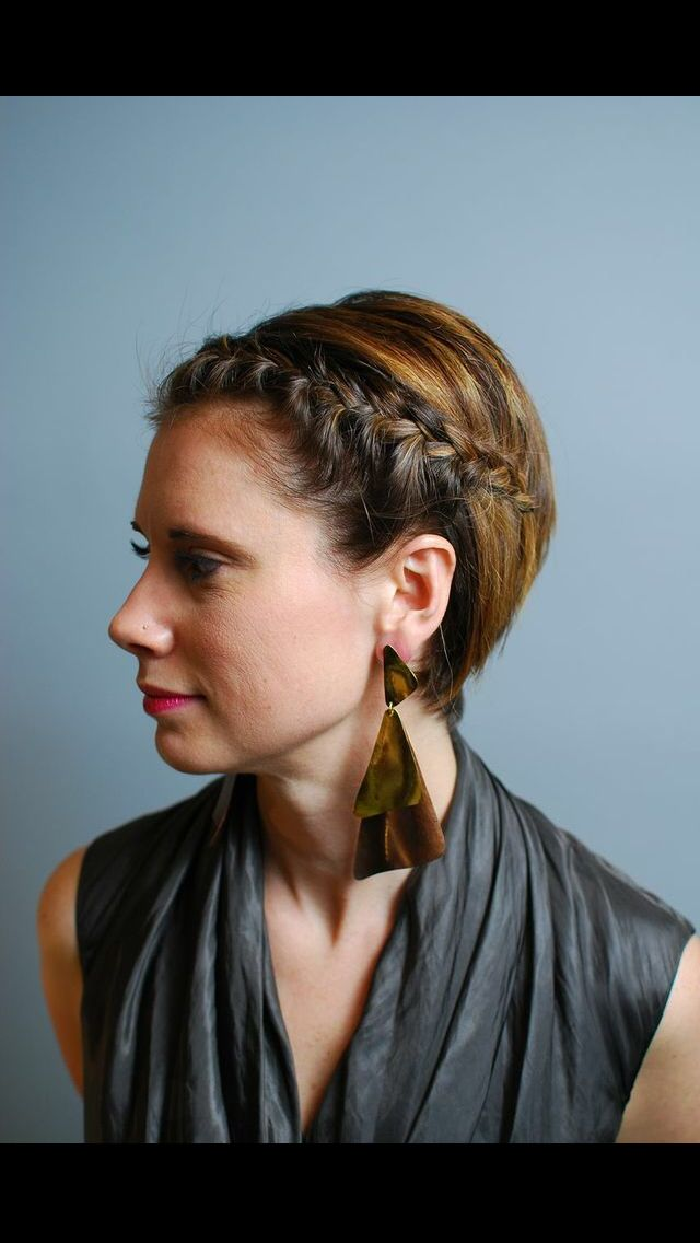 Sometimes it's the little details that make all the difference.... Side sweeping bangs done in a braid.
