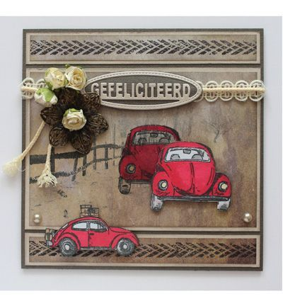 Scrapbookdepot - Joy clear stempel Mannending Cars and Bikes