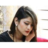 Bellofox Golden Agnes Drop Earrings For Women