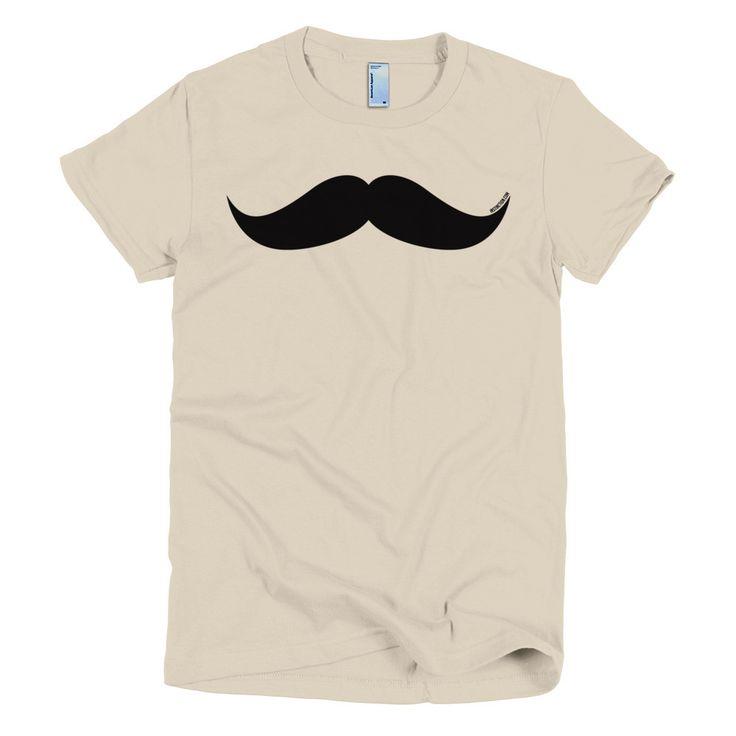 Mustache Short sleeve women's t-shirt