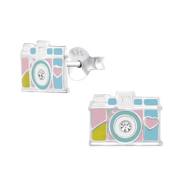 Girls Camera Real Sterling Silver Stud Earrings  #rings #925 #gift #sterling #silver #earrings #present #womans #christmas #girls