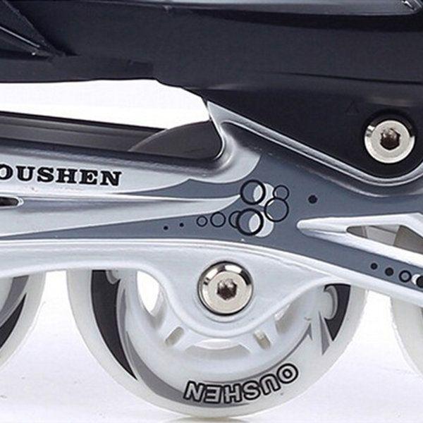 Unisex Adjustable Four Flashing Wheels Skates Shoes Wear-resisting Rollerblade Skate Shoes Sale - Banggood.com
