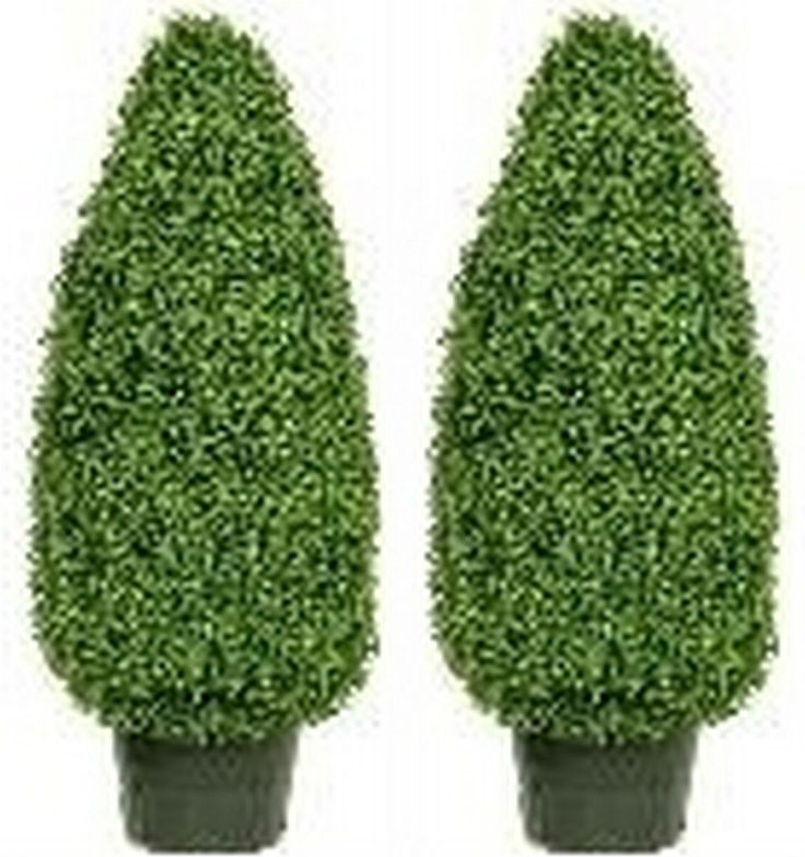 Artificial Boxwood Cone Topiary Bush Potted 42 Inch Two * Check out this great product.