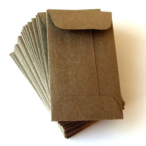 10 mini bruine tas natuurlijke KRAFT papieren enveloppen. 225