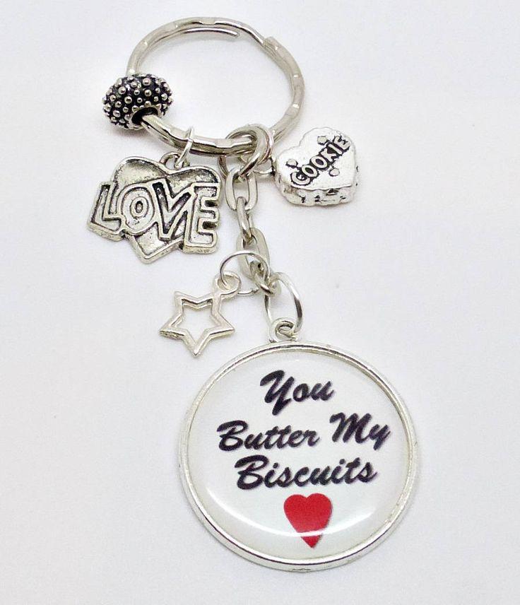 #LoversKeyring#YouButterMyBiscuits #ValentineGift#HeartGift #GirlfriendGift#GiftForHer #QuotesKeyring by PyewacketsPlace on Etsy