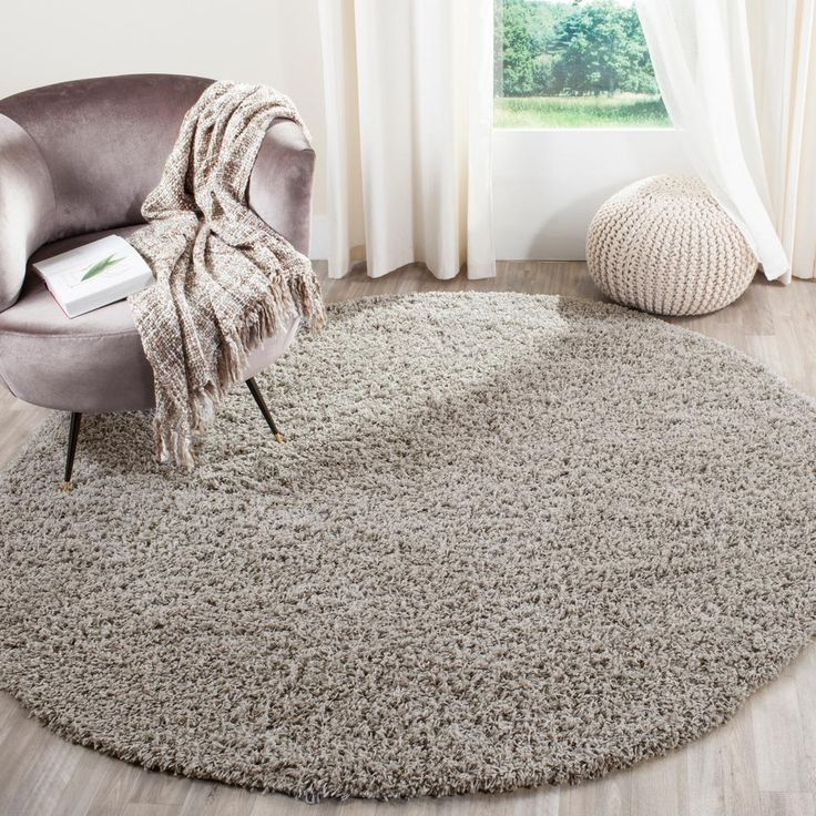 braided rug athens shag light gray 6 ft 7 in x 6 ft 7 in