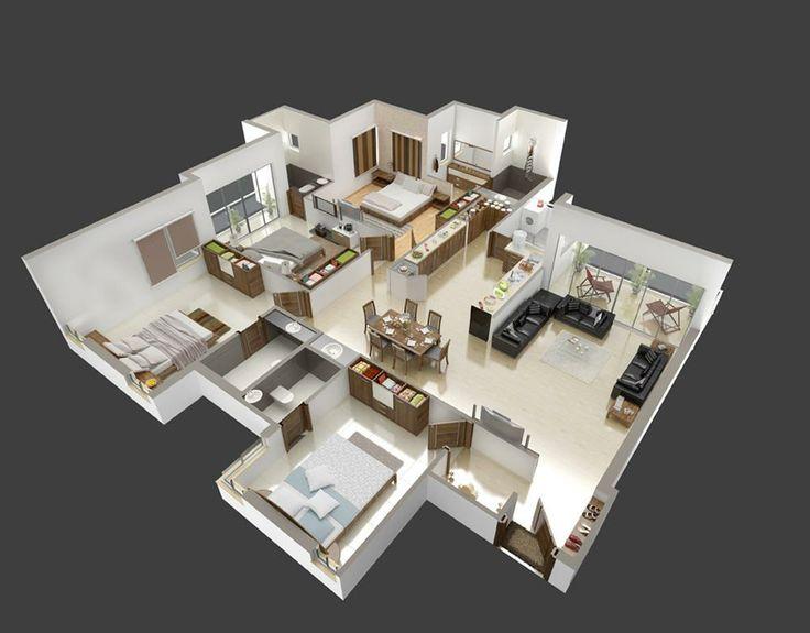 3d Haus Pläne, Haus Pläne, Sims 3, Grundrisse, Haus Design, Landschaft,  Boda, Räume, Pflanzen