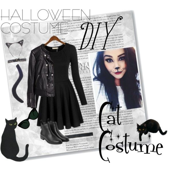 halloween costume diy cat costume by thosewhowonderarenotalwayslost on polyvore featuring hm monki and kamalikulture - Cat Costume Ideas Halloween
