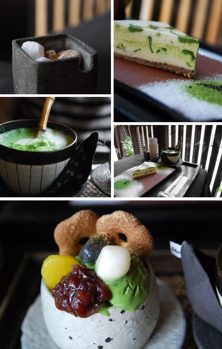 Wonderful green tea cheese cake, green tea ice cream and green tea latte can be found in Kyoto.