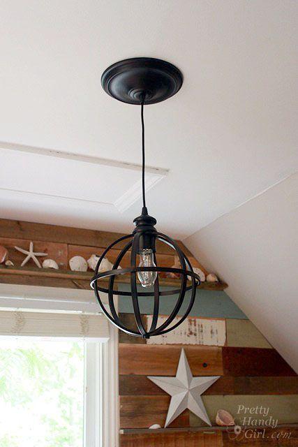 diy recessed lighting pendant converter kit by pretty handy girl. Black Bedroom Furniture Sets. Home Design Ideas
