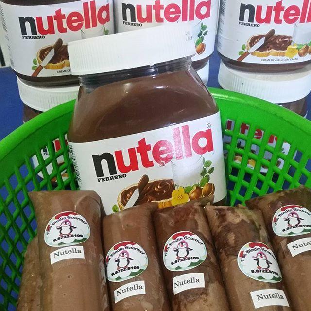 Fran#dindin#gourmet#dindi #nutella#chupchup#geladinho#