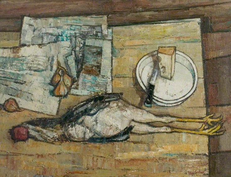 Still Life With Chicken By Peter Coker, Oil On Canvas, X Cm. Find This Pin  And More On Kitchen Sink Realism ...