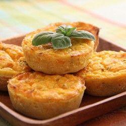 Pumpkin and Cheese Quiches