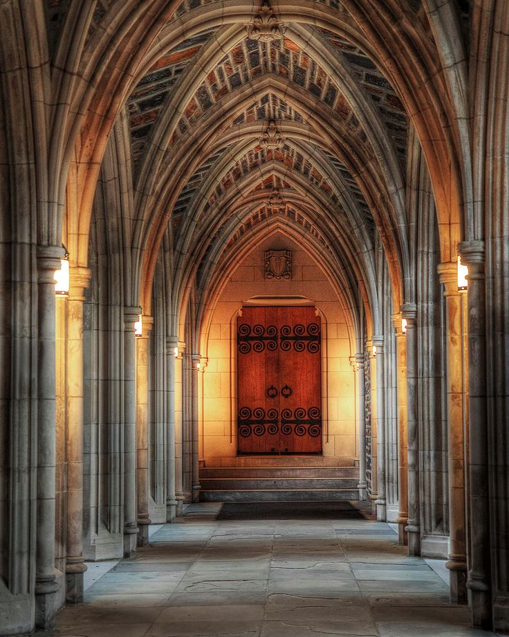 Archway of Duke University Chapel!