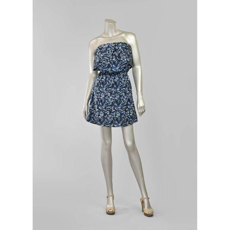 90s Mini Dress • Strapless Dress • Watercolor Floral Sundress • Greek Goddess Dress • Summer Dress • Tunic Dress • Floral Dress • 1990s Dress (Small-Medium S/M)