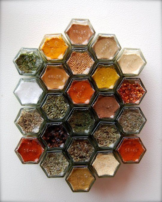Magnetic spice jars: http://www.etsy.com/listing/72432259/custom-spice-kit-gift-idea-for-daughter?ref=shop_home_active_1