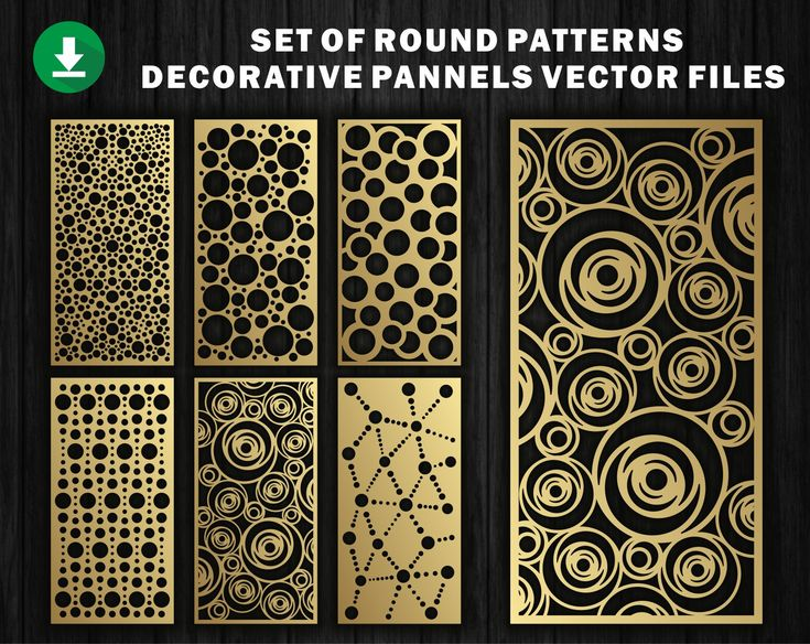 Set of roundy/ Panel Templates / Vector File Instant