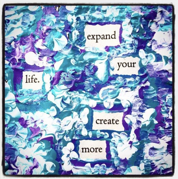"""""""Expand your life. Create more."""" — #makeblackoutpoetry"""