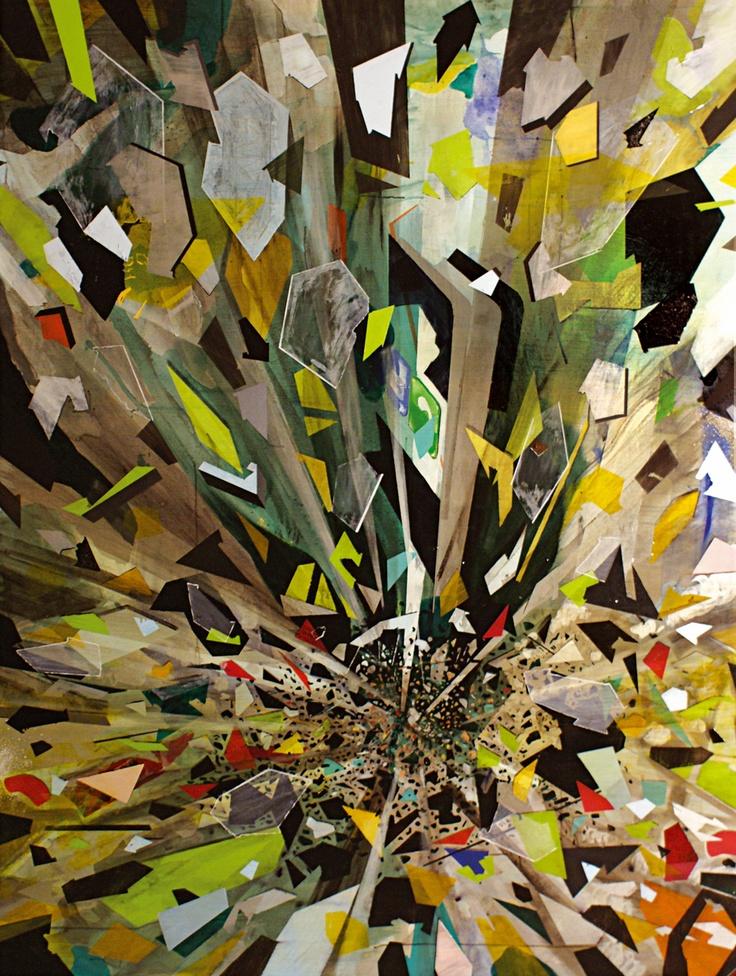 iPhone crash acrylic on canvas 210cm x 160cm