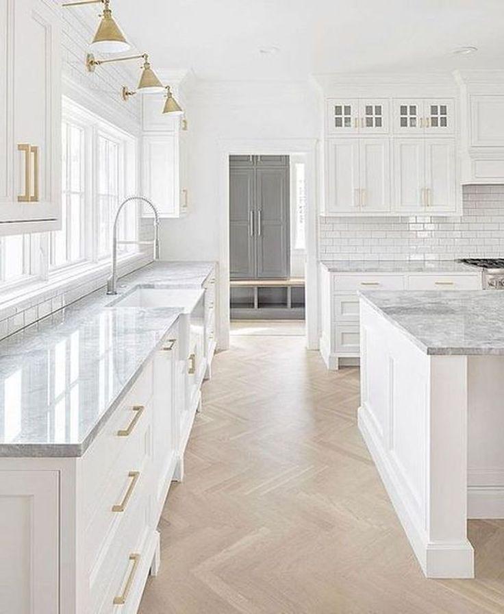 30 Inspiring Farmhouse Kitchen Cabinet Makeover Ideas Trenduhome Cottage Kitchen Design White Kitchen Design Interior Design Kitchen
